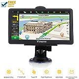 GPS Navigation for Cars, 7-inch Portable Car GPS Navigation System, Built-in 8GB-256MB Real Voice Turn Alarm Satellite Navigator.Lifetime Free Map Updates (Black)