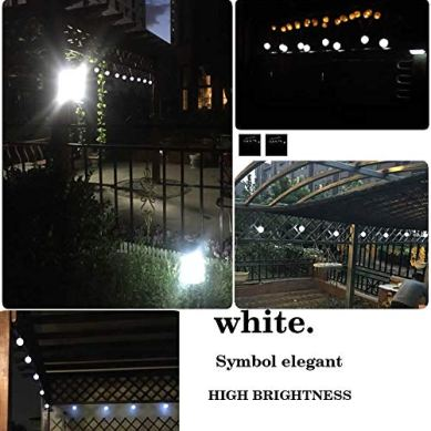 Solar-String-Lights-Globe-33-Feet-60-Crystal-Balls-Waterproof-LED-Fairy-Lights-8-Modes-Outdoor-Starry-Lights-Solar-Powered-String-Light-for-Garden-Yard-Home-Party-Wedding-Decoration-Cool-White