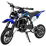 XtremepowerUS 49CC 2-Stroke Gas Power Mini Pocket Dirt Bike Dirt Off Road Motorcycle Ride-on (Blue)