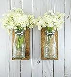 Reclaimed Wood Wall Decor - Dairy Bottle Flower Holder - Milk Bottle Bud Vase - Wall Vase - Farmhouse Home Decor - Bathroom Wall Decor