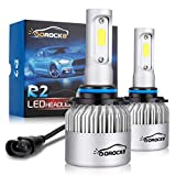 VoRock8 R2 COB 9006 HB4 8000 Lumens Led Headlight Conversion Kit, Low Beam Headlamp, Fog Driving Light, Halogen Head Light Replacement, 6500K Xenon White, 1 Pair