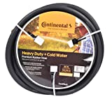 Continental ContiTech Black Rubber Heavy Duty Garden Hose, 5/8' ID x 50' Length