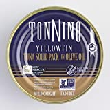 Tonnino Solid Yellowfin Tuna Fillets- Olive Oil 4.94oz Wild Caught