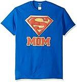 DC Comics Men's Superman Short Sleeve T-Shirt, Mom Royal Blue, X-Large