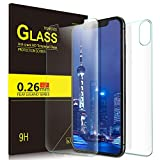 for iPhone Xs Max Screen Protector, KuGi TZM 9H Hardness HD Clear Tempered Glass Screen Protector for iPhone Xs Max 6.5 inch Smartphone (Clear)