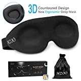 Ergonomic Sleep Mask, New Design Light Blocking Sleeping Mask for Women Men, 3D Contoured Super Soft, Comfortable Adjustable Night Eye Mask for Sleeping, Best Blinder Memory Foam Blindfold for Travel