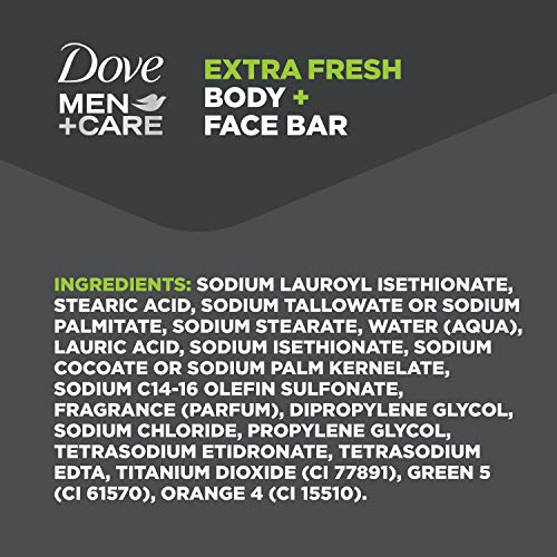 Dove Men+Care 3 in 1 Bar To Clean and Hydrate Skin Extra Fresh More Moisturizing Than Bar Soap 3.75 oz 10 Bars 12