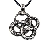 Paw Paw House Dragon Necklace Norse Viking Snake Ouroboros Talisman Pagan Wicca Spiritual Jewelry (4108S)