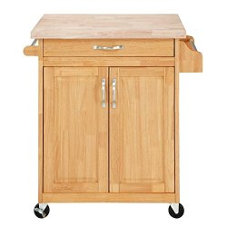 Dorel Living Kitchen Island, Natural