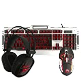 Kit Gamer Marvo de Teclado, Diadema, Mouse / Alambrico / Retroiluminado / CM-303