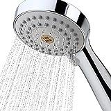 YOO.MEE High Pressure Handheld Shower Head with Powerful Shower Spray against Low Pressure Water Supply Pipeline, Multi-functions, Bathroom Accessories w/ 79'' Hose, Bracket, Flow Regulator, Chrome