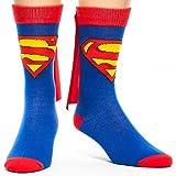 DC Comics Cape Crew Socks (Superman), Blue, One Size
