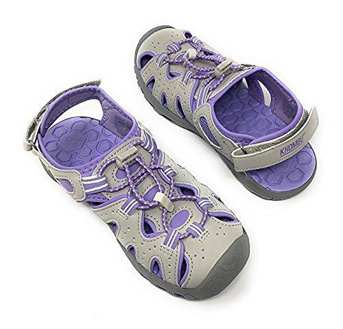 Khombu Kids Athletic Girls Purple Active Sandals (3)
