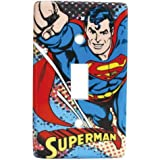 4.75 Inch DC Comics The Flying Heroic Superman Light Switch Plate