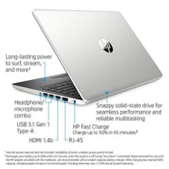 HP-14-Inch-Laptop-7th-Gen-AMD-A9-9425-4-GB-SDRAM-Memory-128-GB-Solid-State-Drive-Windows-10-Home-in-S-Mode-14-dk0020nr-Natural-Silver