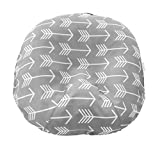 Water Resistant Removable Cover for Newborn Lounger | Unisex Gray Arrow Design | Premium Quality Soft Wipeable Fabric | Great Baby Shower Gift | Mila Millie (Gray Arrow)