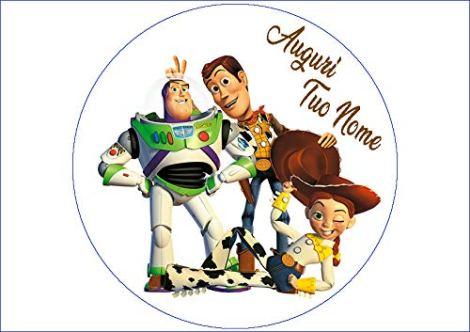 Cialda Personalizzabile Tonda Toy Story