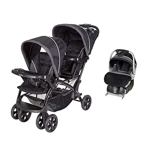 Baby Trend Double Sit N Stand Stroller + FlexLoc Infant Car Seat ...
