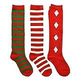 Angelina Rainbow Striped Knee High Socks, 2540 6-Pair Lady's #2540_9-11_6