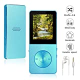 Mp3/Mp4 Player Widon 8GB Mp3 Music Player Built-in Speaker HiFi Shuffle A-B Playback Bookmark Variable Speed for Audio Books Metal Body FM Radio Voice Recorder Gift for Kids Language Learning Blue2