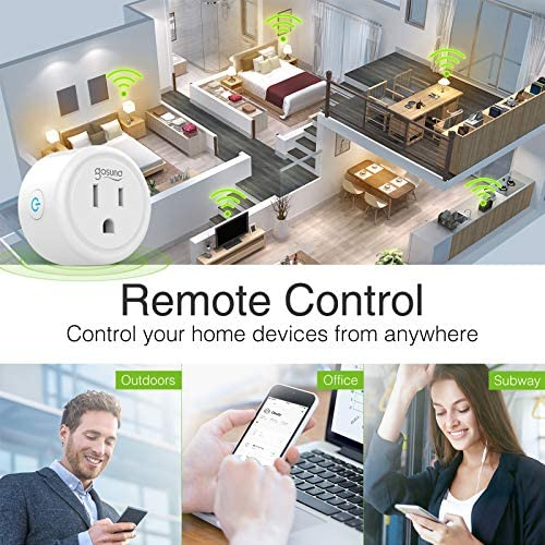 Gosund Smart Plug Works with Alexa and Google Home, 2.4GHz Wifi enabled Remote Control Smart Outlet, No Hub Required,ETL Listed(2 Packs) 17