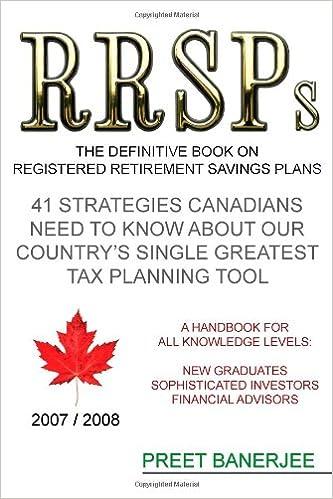 Rrsps: The Definitive Book on Registered Retirement Savings Plans