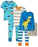 Spotted Zebra Big Kids' 6-Piece Snug-Fit Cotton Pajama Set, Dinoland, XX-Large (14)