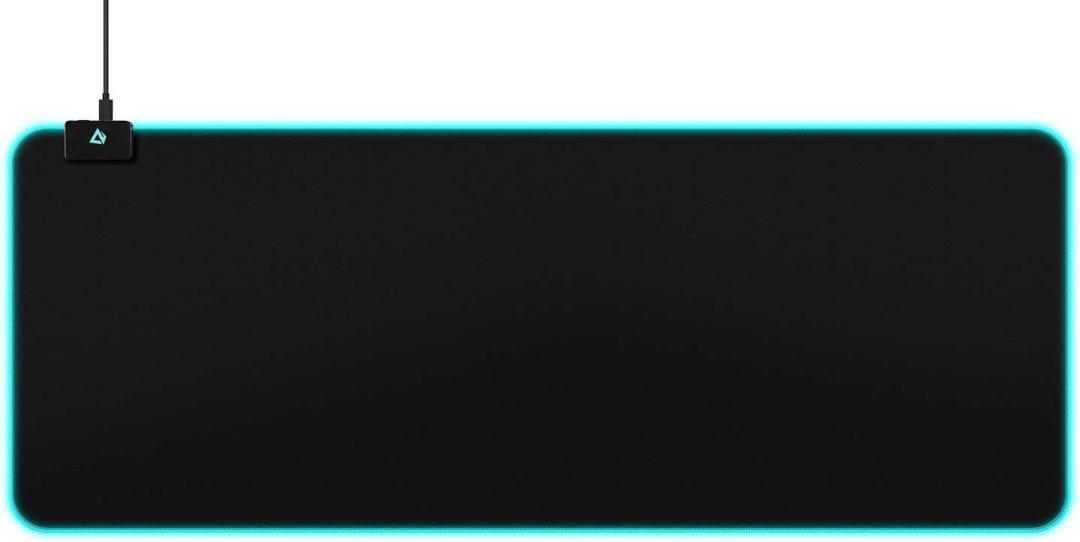 Aukey Tapis de Souris de Gaming RVB avec 16,8 Millions de Couleurs, 10 lumières préréglées, Surface en Tissu résistant aux éclaboussures, 800 x 300 x 4 mm, Noir