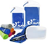 Chilly Towel - 47' x 14' Cooling Bandana Neck Cooler - Personal Cooling Device - Keep Chill for Running Biking Hiking Tennis Golf & All Other Sports Exercise Fitness, Gift for Golfers
