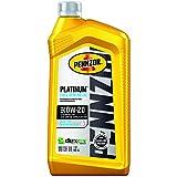 Pennzoil Platinum Full Synthetic Motor Oil (SAE, SN) 0W-20, 1 Quart - Pack of 6