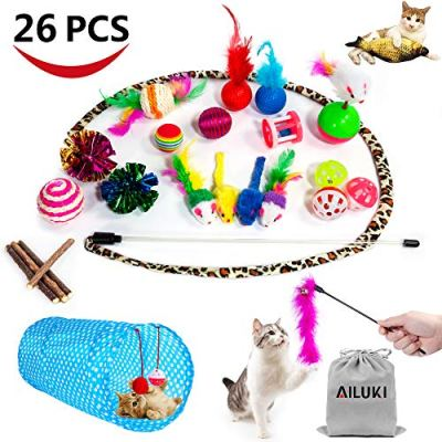 29 PCS Cat Toys Kitten Toys Assortments,Variety Catnip Toy Set...