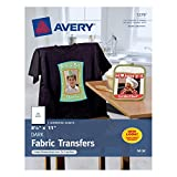 Avery Dark T-Shirt Transfers, Matte, 8-1/2' x 11', 5 Sheets, Case Pack of 6 (3279)