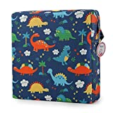 Zicac High Chair Portable Booster Seat Cushion Travel Dining Seat Pad for Toddler Kids Baby Infant Washable Thick Chair Seat Pad (Dark Blue)