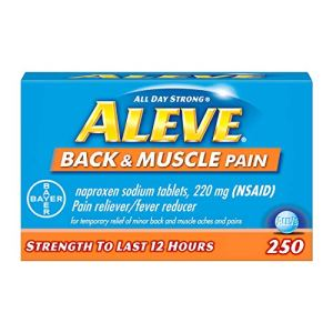 Aleve Back and Muscle Pain Tablets, Fast Acting All Day Targeted Relief for Headache, Muscle, and Back Pain, Naproxen…