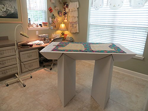 "That-Table Flat-Top, Fold-Away, Counter Height, Fabric Cutting Board & Multi-Purpose Table, 55"" L x 32"" W"