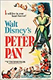 HSE Peter PAN (RKO 1953) Vintage Movie Poster Walt Disney Musical Kids 24X36 New - 2 to 5 Days Shipping from USA