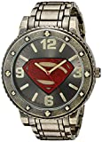 DC Comics Men's Quartz Metal and Alloy Casual Watch, Color:Gold-Toned (Model: BVS8009)