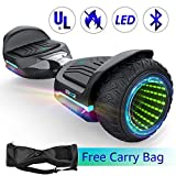 Gyroshoes Hoverboard Off Road All Terrain Self Balancing Scooter 6.5' T581 Flash Two-Wheel Self Balancing Hoverboard with Bluetooth Speaker and LED Lights for Kids and Adults Gift UL 2272 Certified