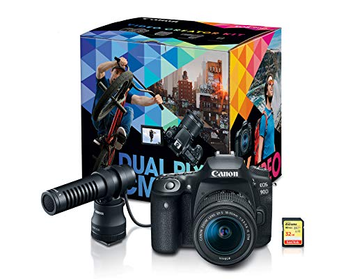 Canon-DSLR-Camera-EOS-90D-Vlogging-Video-Creator-Kit-with-Stereo-Microphone-DM-E100-32GB-SDHC-Memory-Card-and-Windscreen-Accessory-for-Outdoor-Recording