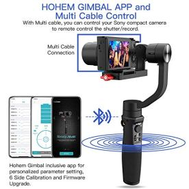 Hohem-Digital-Camera-Gimbal-Stabilizer-3-in-1-Gimble-for-Sony-RX100-for-Canon-PowerShot-for-Panasonic-Lumix-for-Gopro8-Gopro-Max-and-iPhone-11-pro-max-Smartphones-Playload-400g-iSteady-Multi