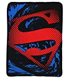 "Superman Boy's Valentine's Blanket Gift, Soft and Cuddly, Size 46"" x 60"""