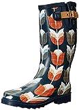 Chooka Women's Vintage Tulip Rain Boot, Navy 7 M US