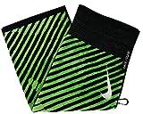 Nike Golf- Face/Club Jacquard Towel Black/Voltage Green N87455