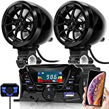 GoHawk TS3 Gen.2 Motorcycle 3' Waterproof Bluetooth Speaker 7/8-1 in. Handlebar Mount MP3 Music Player Audio Stereo Amplifier System ATV UTV w/AUX in, USB, Micro SD, FM Radio (TS3 Black)