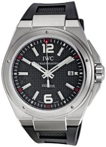 IWC Men's IW323601 Ingenieur Mission Earth Black Textured Dial Watch