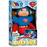 Molto 15869 Superman – Snowman Gusy Light That Lights up, 28 cm