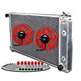 Aluminum Racing Cooling Radiator Stop Leak With 2x 10' Electronic Fans For 1973-1980 CHEVY C/K SERIES C10/K10 PICKUP L6/V8
