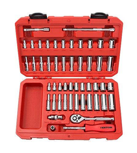 TEKTON 1/4-Inch Drive Socket Set, Inch/Metric, 6-Point, 5/32-Inch - 9/16-Inch, 5 mm - 14 mm, 51-Piece | 13001
