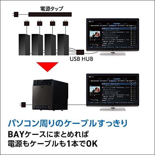 ロジテック LHR-4BNHEU3 4Bay eSATA 接続例