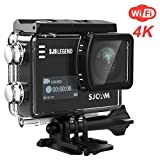 SJCAM SJ6 Legend 4K WiFi Action Camera 16MP Dual Screen Remote Sports Control WiFi Cam- Touchscreen/ 170 Degree Wide Angel/Gyro Stabilization Supported Underwater Waterproof Camera- Black